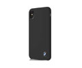 Coques BMW SILICONE & LEATHER CASE IPHONE X BLACK