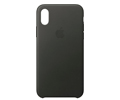 Coques Apple LEATHER CASE IPHONE X CHARCOAL GRAY